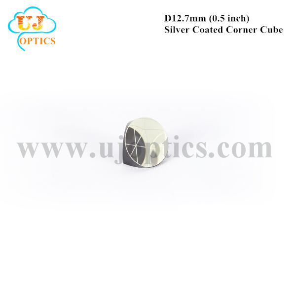12.7mm 0.5inch K9 BK7 silver coated corner cube prism for total station