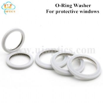 UJoptics O-Ring Washer Protective Windows Customizable Size Seal Ring for Fiber Laser Head 1064nm