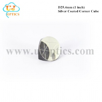 25.4mm 1inch K9 BK7 silver coated corner cube prism for total station