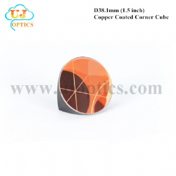 38.1mm 1.5inch K9 BK7 copper coated corner cube for total station